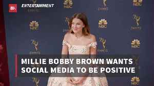 Millie Bobby Brown Has A Vision For Social Media [Video]