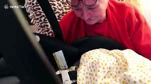 US grandmother weeps when surprised with meeting NICU baby great-grandson [Video]
