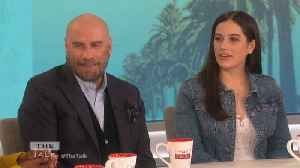 The Talk - John Travolta on Teaching His Kids The Floss; Says 'You have to stay current' [Video]