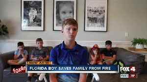 Naples boy saves siblings from house fire [Video]