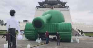 Inflatable Depiction of Tiananmen 'Tank Man' Installed in Taipei Ahead of Crackdown Anniversary [Video]