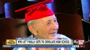 WWII veteran to finally graduate high school 76 years later [Video]