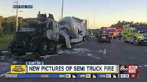 Semi carrying energy drink cans catches fires on SB I-75 [Video]
