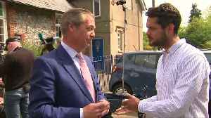 Brexit Party's Nigel Farage votes in EU elections [Video]