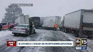 Icy roads cause crash on I-40 [Video]