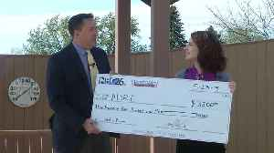 3 Degree Guarantee presents check to ADRC [Video]