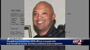 Disciplinary record into OPD officer charged with manslaughter reveals previous violations [Video]