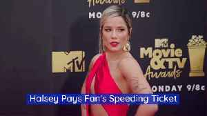 Halsey Has A Fans Speeding Ticket Covered [Video]