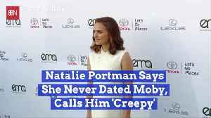 News video: Natalie Portman Strongly Denies Dating History With Moby