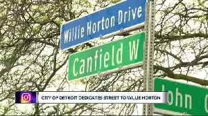 Willie Horton honored with street name in Detroit, Red Wings surprise DPS students with bikes [Video]