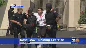 Firefighters And Law Enforcement Participate In Rose Bowl Stadium Active Shooter Drill [Video]