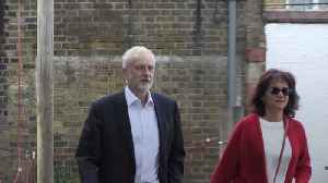 Jeremy Corbyn votes in the European elections [Video]