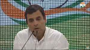 Rahul Gandhi takes onus for LS defeat, asks Smriti to treat Amethi 'with love' [Video]