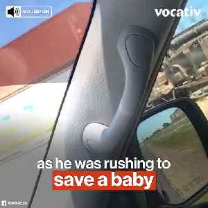 Texas Police Hit by a Train Trying to Save an Infant on The Other Side [Video]