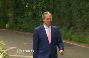 News video: Brexit Party's Nigel Farage votes in EU elections