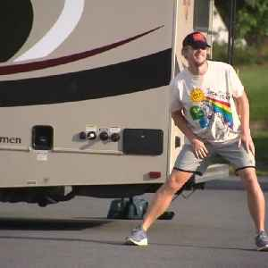 Man running across country for charity [Video]