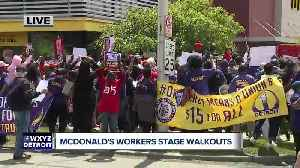 McDonald's workers stage walkouts in Detroit [Video]