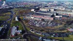 Aerial shots of British steel plant [Video]