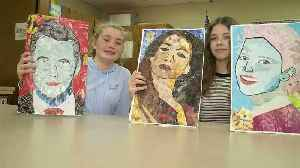 Middle School Students Auction Off Their Art to Help Those in Need [Video]