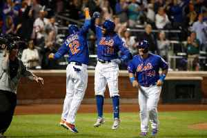 Mets' Rajai Davis Arrives to First Game Late, Hits Home Run [Video]
