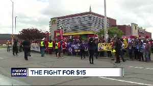 Detroit McDonald's workers striking for right to form union [Video]