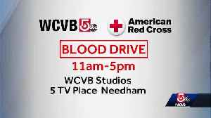 WCVB hosting blood drive Friday with Red Cross [Video]