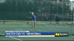 HS Girls Tennis: Memorial clinches spot at Semi-State; Princeton Doubles to face Castle [Video]