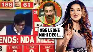 Election 2019 Result | Sunny Deol Addressed As Sunny Leone On TV [Video]