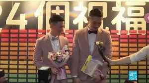 Taiwan holds first same-sex marriages in historic day for Asia [Video]