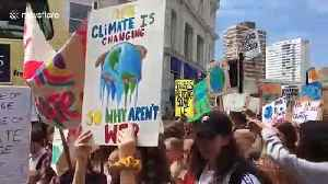 Youth march against climate change in Brighton [Video]