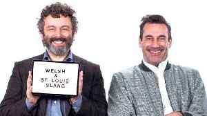 Jon Hamm and Michael Sheen Teach You St. Louis and Welsh Slang [Video]