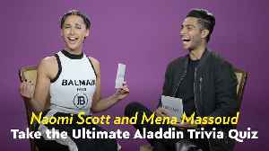 Naomi Scott and Mena Massoud Quizzed Each Other With Aladdin Trivia, and It's Harder Than You Think [Video]