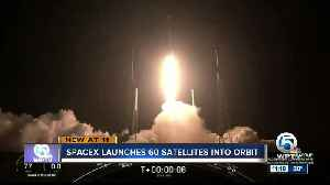 SpaceX launches its first 60 satellites to deliver internet from space [Video]
