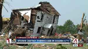 Storm levels farms in Golden City, Missouri [Video]