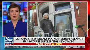 Julian Assange charged with violating the Espionage Act by the Justice Department [Video]