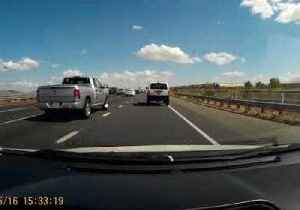 Dashcam Captures F-16 Pilot Ejecting Before Plane Crashes in Riverside County [Video]