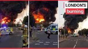 A fire has ripped through a warehouse in North London [Video]