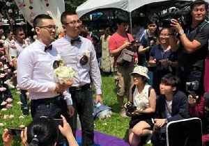 First Same-Sex Marriages Celebrated in Taiwan After Legal Change [Video]