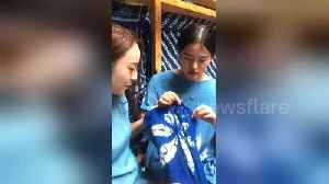 Watch how the Chinese Bai ethnic minority tie-dye clothes [Video]