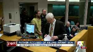 Father charged with murder in death of 1-month-old son [Video]