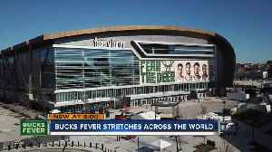 International fans arrive to cheer for the Bucks in Game 5 [Video]