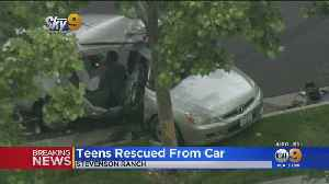 Teens Trapped Inside Vehicle After Driver Crashes Into Tree In Stevenson Ranch [Video]
