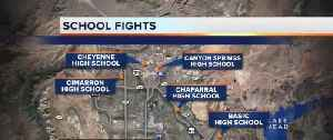 C.C.S.D. Police use pepper spra to break-up final day school brawls across the valley [Video]