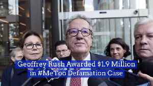 Geoffrey Rush Wins A MeToo Defamation Case [Video]