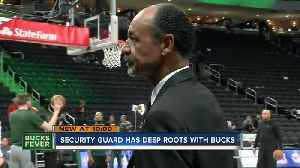 Former Milwaukee Bucks player now works as a team security guard [Video]