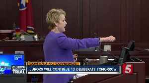 Jurors to continue deliberations Friday [Video]