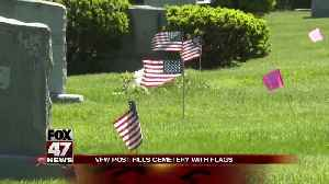 VFW fills local cemetery with American flags [Video]