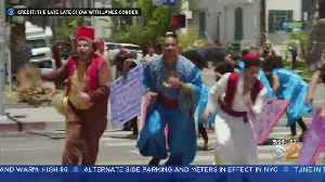 SEE IT: James Corden, Will Smith's Aladdin Crosswalk Musical [Video]