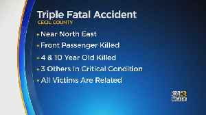 Triple Fatal Accident In Cecil County [Video]