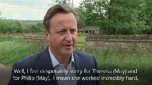 David Cameron: I feel desperately sorry for Theresa May [Video]
